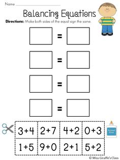 Balancing Equations Cut & Paste worksheets -- such a fun way to introduce, practice, and review balancing equations!