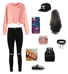 """""""CASUAL"""" by celinachugani on Polyvore featuring Boohoo, Converse and adidas"""