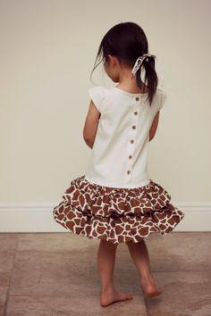 Giraffe Dress for Little Momo