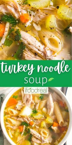 Turkey Noodle Soup is the answer to leftover roasted turkey. The homemade broth is so healing and delicious combined with simple veggies and pasta. Your family will devour it in minutes.