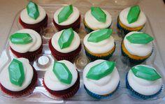 Edible Zelda Rupees  / 1 dozen / birthdays, weddings, cupcakes cupcake toppers by BellaRoca on Etsy