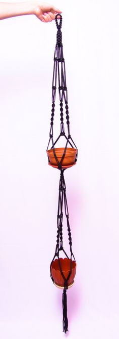 Perfect for Outdoor Plants  5mm Hanging Planter by DanceOfTheSoul