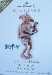 Harry Potter A Gift for Dobby Limited 2010 Hallmark Keepsake Christmas Ornament