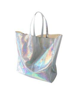 Shop Hologram PU Shopper from choies.com .Free shipping Worldwide.$16.9