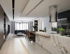 Modern Luxury Kitchens For A Grand Kitchen Kitchen Room Design, Luxury Kitchen Design, Home Room Design, Luxury Kitchens, Home Decor Kitchen, Interior Design Kitchen, Modern Interior Design, Interior Decorating, House Design