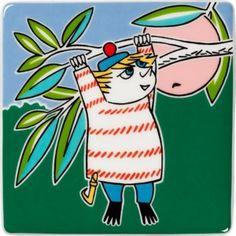 Arabia Muumi Tuutikki 89 x 89 mm koristepuu, e Tove Jansson, Cartoon Characters, Fictional Characters, Moomin, Say Hi, Scandinavian Style, All Pictures, Grinch, Pikachu