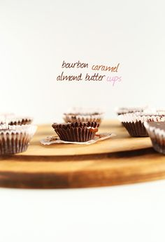 Bourbon Caramel Almond Butter Cups! #vegan 7 Ingredients and PERFECT for VDAY! MINIMALISTBAKER.COM