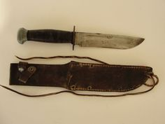 Vintage WWII Remington RH PAL 36 Fighting Knife with Original Sheath