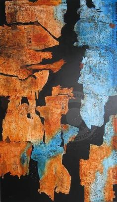 la déchirure - Peinture,  114x195 cm ©2010 par Anne-Marie Mary -                                            Art abstrait, Toile, La déchirure