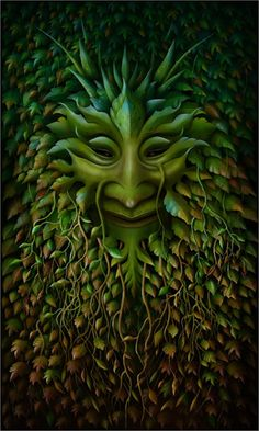 "Druids Trees: ""#Green #Man,"" by Brian Froud."