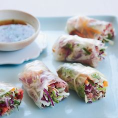 Vietnamese summer rolls are often filled with or shrimp, but Grace Parisi makes hers with roast beef from the deli.     Fast Asian Recipes   ...