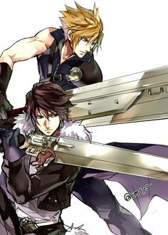 Cloud FFVII and Squall FFVIII