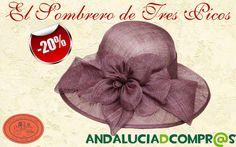 Andaluciadcompr@s sigue de REBAJAS!! El Sombrero de tres picos nos ofrece un 20% de descuento en todos sus artículos, sombreros, pamelas y tocados, complementos hombre y mujer, etc. Entra en el portal y descubre todos los productos que han puesto de oferta para ti.