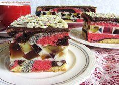 """Niesamowicie kolorowe i radosne ciasto! Na moich starych wycinkach gazetowych sprzed ponad 10 lat figuruje pod nazwami """"Tulipan"""" lub..."""