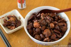 chicken_motsu Japanese Kitchen, Japanese Style, Meat Recipes, Gravy, Stew, Chicken, Vegetables, Cooking, Salsa