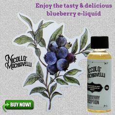 Enjoy the tasty & delicious blueberry e-liquid.
