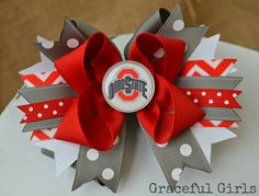 Ohio State Buckeyes Gameday Bow by GracefulGirls