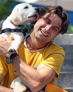 Puppies love David Ferrer and so do you! Voters put him at the No. 11 spot on #Tennis Channel's heartthrobs list.