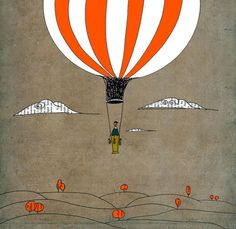 Orange optimist air balloon
