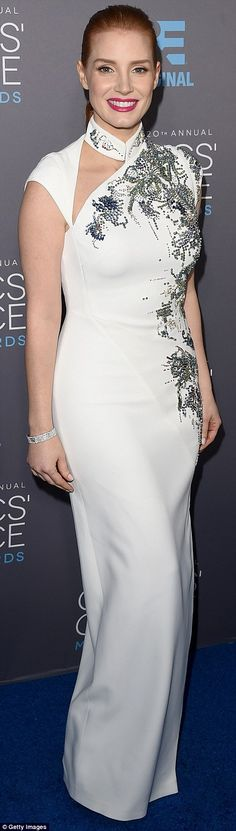 Special night: Jessica Chastain picked up the first-ever MVP Award for her brilliant body ...