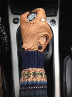 Winter driving gloves.