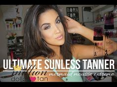 Ultimate Summer Sunless Tan | Million Dollar Tan Mermaid Mousse Extreme - YouTube
