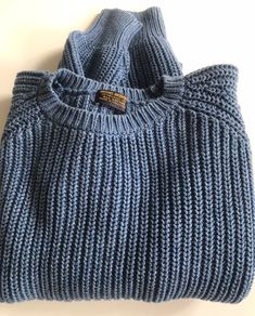 BROOKS BROTHERS Light Blue Cotton Knit Sweater Made in Hong Kong Size Large  Vintage by BROCANTEBedStuy on Etsy 4890170788d3