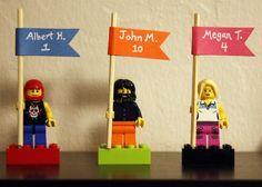 Lego Place Cards, fun idea! #DIY #wedding