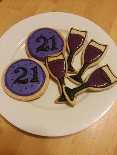 21st Birthday Cookies. $30 a dozen. Mix n match!