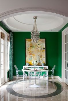 19 Seriously Stylish Rooms That Rock The Color Green