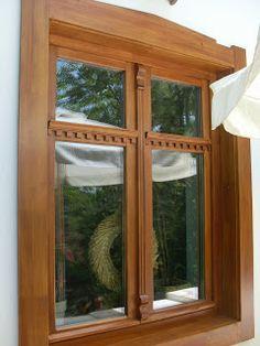 Parasztházak nyílászárói: Parasztablakok Wood Windows, Wood Doors, Windows And Doors, Barbecue Garden, Window Design, Shutters, Sweet Home, Arches, Cottage