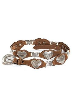 Linked Hearts Leather Belt, AGED BARK, Size 36 ** To view further for this item, visit the image link.