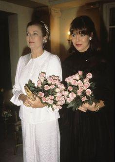 Grace Kelly and Princess Caroline of Monaco