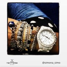 This great combination by @simona_simo is our #picoftheweek! Use #ToyWatch for a chance to be featured and show your #TWlove! - #ToyWatch #watch #watches #style #fashion #accessories #forher #white #chrono
