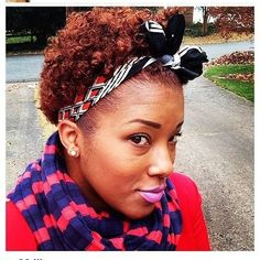 A Creative way to get a cute headband, share yours with us,   #curlstyle #curlyaccesories