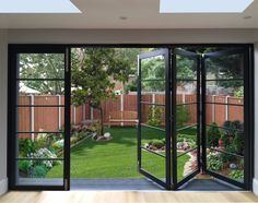 """"""" if anyone asks for a local specialist door company for any projects do send them over as we are based in Earlsfield! Home Room Design, House Design, Crittal Doors, Cedar Door, Mid Century Exterior, Crittall, Glass Extension, Wrought Iron Doors, Marquise"""