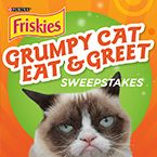 Create a grumpy greeting! Plus, you could win a trip to meet Grumpy Cat and a year's supply of Friskies®. Visit apps.facebook.com/petsmartfriskies to share your own e-card and to enter the sweepstakes.