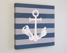 Any Color Original Personalized Nautical Anchor by SnowFlowerArts