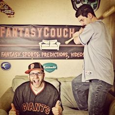 Fantasy Baseball SF Giants jersey and an LA Dodgers jersey on the same set
