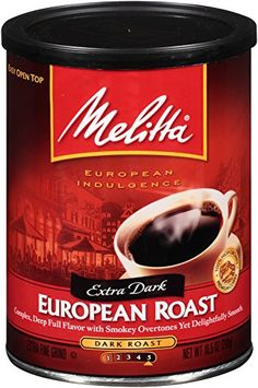 Melitta Coffee European Roast Ground Extra Dark Roast 105Ounce Cans Pack of 4 * Visit the image link more details. Note:It is affiliate link to Amazon.
