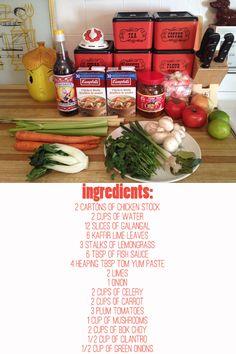 Recipe for Tom Yum soup! we looooove Tom Yum Soup!!