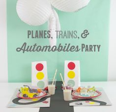 Planes, Trains, & Automobiles Party | PartiesforPennies.com | #transportationparty #kidsparty