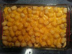 Cheesy tator tot casserole