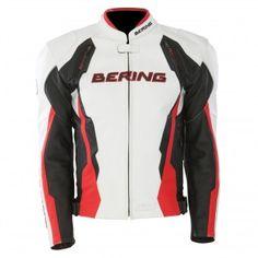 Blouson Moto Bering Kingston Noir Blanc Rouge http://www.icasque.com/Equipement-moto/Vetements-moto/Blouson-Moto/Kingston-Noir-Blanc-Rouge/