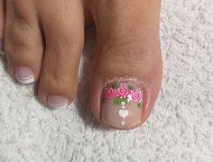 Cute Toe Nails, Cute Toes, Manicure And Pedicure, Beauty, Instagram, Toenails, Glaze, Nail Art, Designed Nails