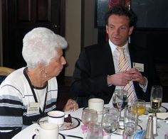Former Sarasota Mayor Lou Ann Palmer & Alderman Alessio  at the Sarasota Yacht Club during Treviso Week in February 2007