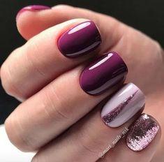 Cute Nail Colors - Neutral Nail Polish Color Ideas - Fashion Creed - The most beautiful nail designs Stylish Nails, Trendy Nails, Cute Nails, Shellac Nails, Glitter Nails, My Nails, Purple Gel Nails, Purple Nail Art, Yellow Nail