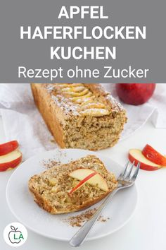 Apfel Haferflocken Kuchen ohne Zucker – Gesundes Fitness Rezept This apple oatmeal cake without sugar is healthy and juicy. Here you will find the sugar-free fitness recipe, which is also ideal for losing weight. Oatmeal Recipes, Apple Recipes, Vegan Recipes, Oatmeal Cake, Apple Oatmeal, Bolos Low Carb, Canned Blueberries, Vegan Scones, Gluten Free Flour Mix