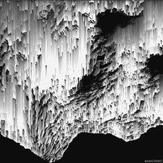 black and white pixel sorting gif