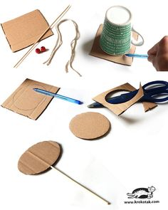 How to make easy spin drum How to make easy spin drum<br> see more: Drum Lessons For Kids, Drums For Kids, Art Lessons, Paper Crafts Origami, Paper Crafts For Kids, Diy For Kids, Kids Crafts, Tree Crafts, Drums Artwork